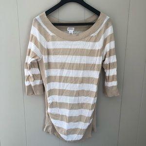 Motherhood Maternity   Striped Maternity Sweater L